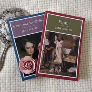 Jane Austen Emma & Sense & Sensibility Set of 2 Books Paperback